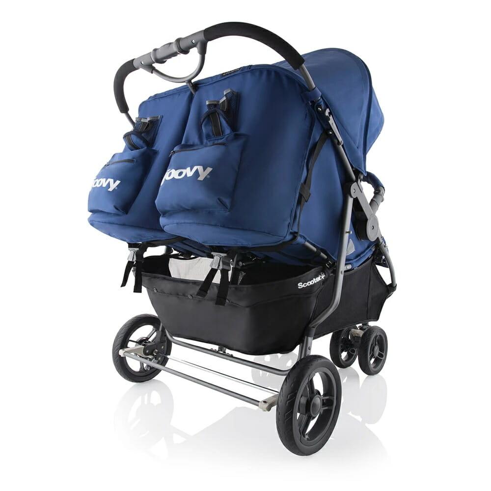 Joovy Scooterx2 Stroller Blueberry Rear