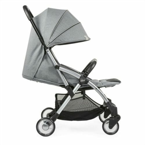 Chicco Goody Stroller Cool Grey Hood Down Reclined