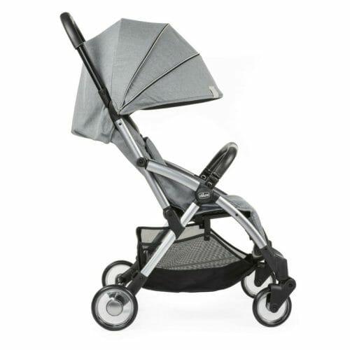Chicco Goody Stroller Cool Grey Side Hood Down