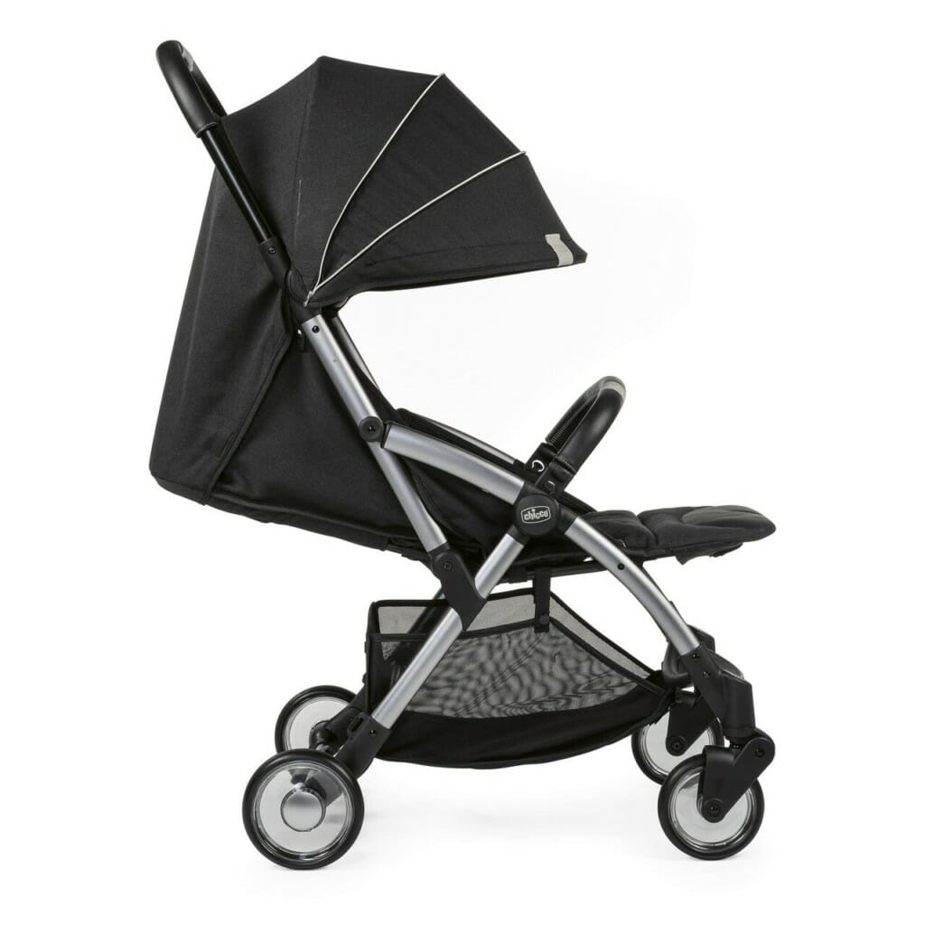 Chicco Goody Stroller Graphite Hood Down Reclined