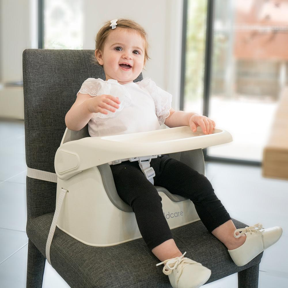 Ezi Feed 2 In 1 Booster Secured To Chair