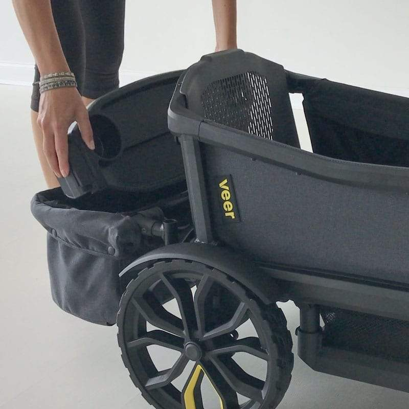 Veer Foldable Rear Storage Basket Lifestyle