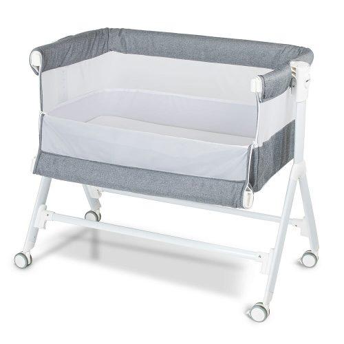 Babyrest Aria Bedside Bassinet Grey
