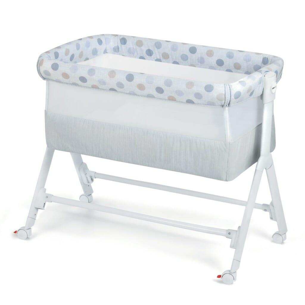 Babyrest Aria Bedside Bassinet Lifestyle Blue Spot
