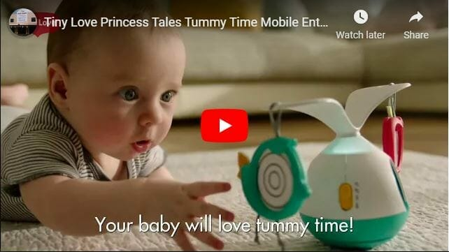 Tiny Love Princess Tales Tummy Time Mobile Entertainer Video