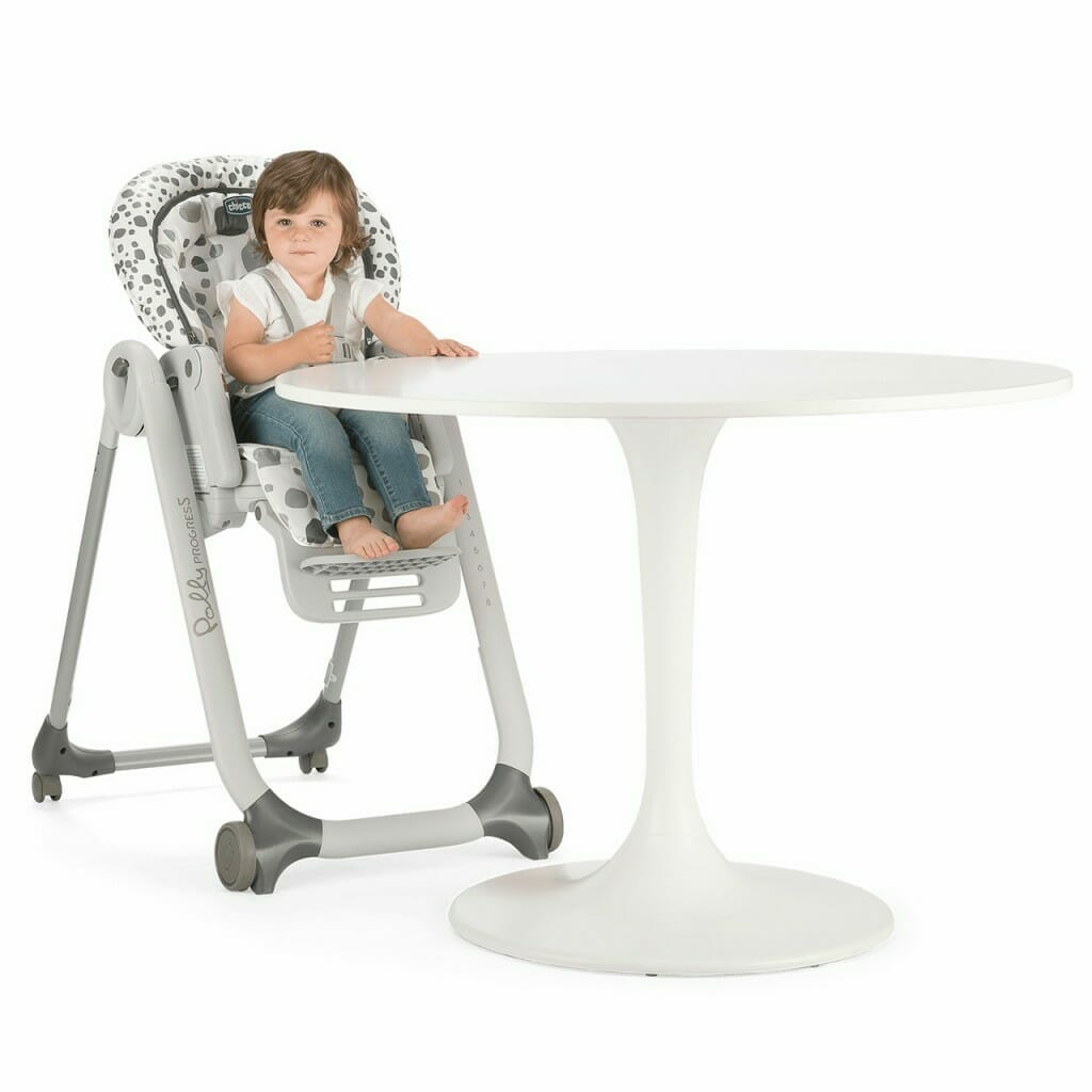Chicco Polly Progres5 Highchair Anthracite Lifestyle 3
