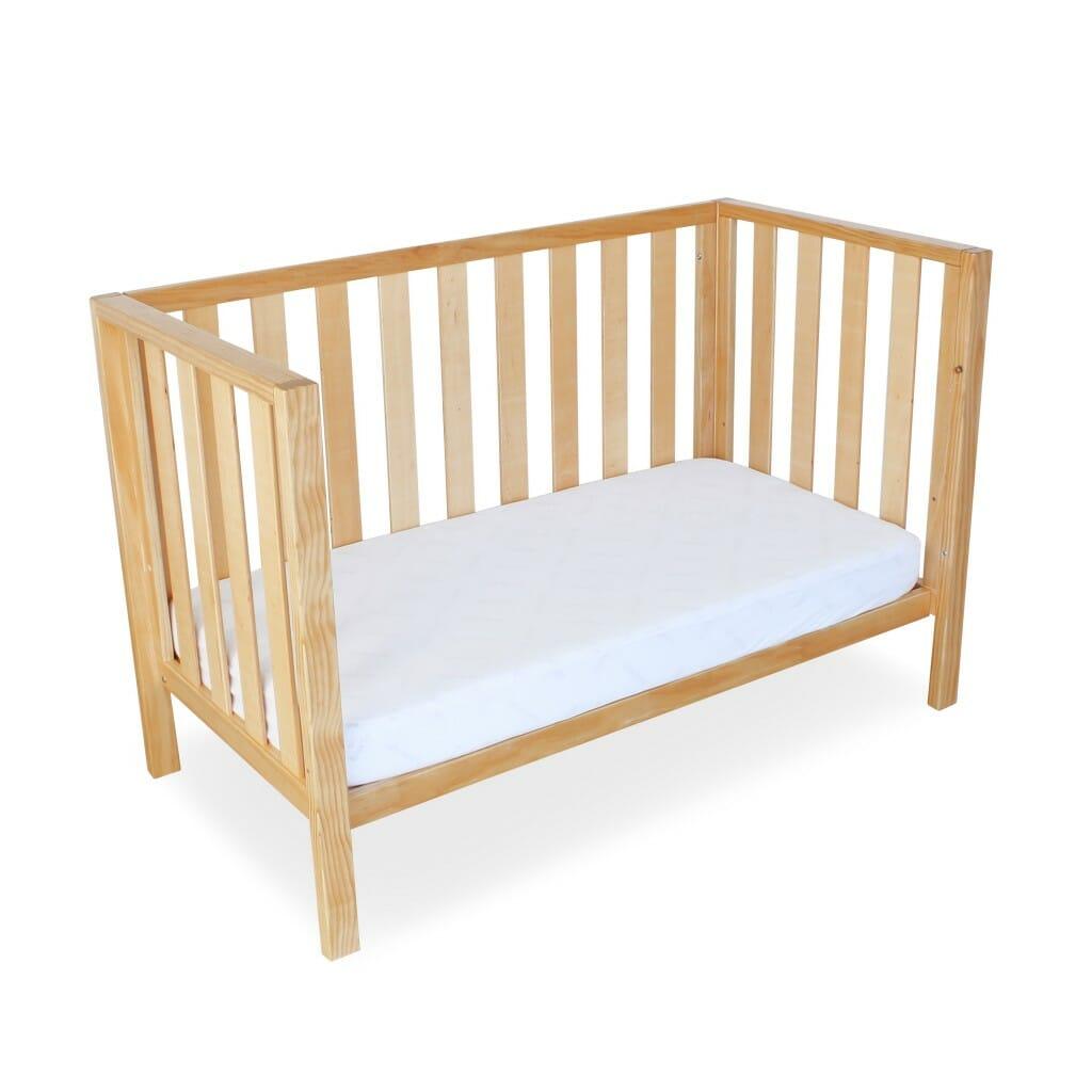 Babyhood Mali Compact Cot Natural Toddler Bed