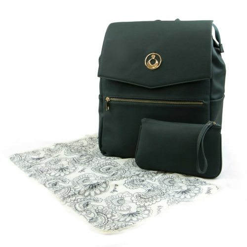 Isoki Hartley Backpack Forest Angle With Accessories