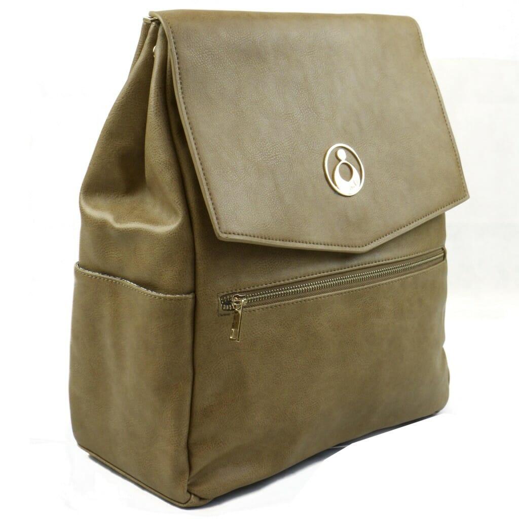 Isoki Hartley Backpack Latte Angle Other Side