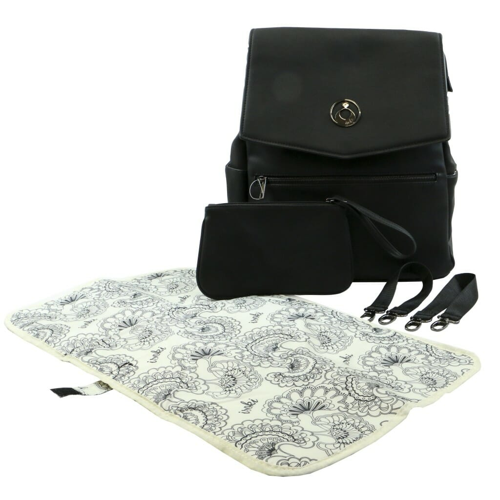 Isoki Hartley Backpack Onyx Angle With Accessories
