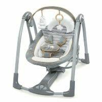 Ingenuity Bella Teddy Swing N Go Portable Swing